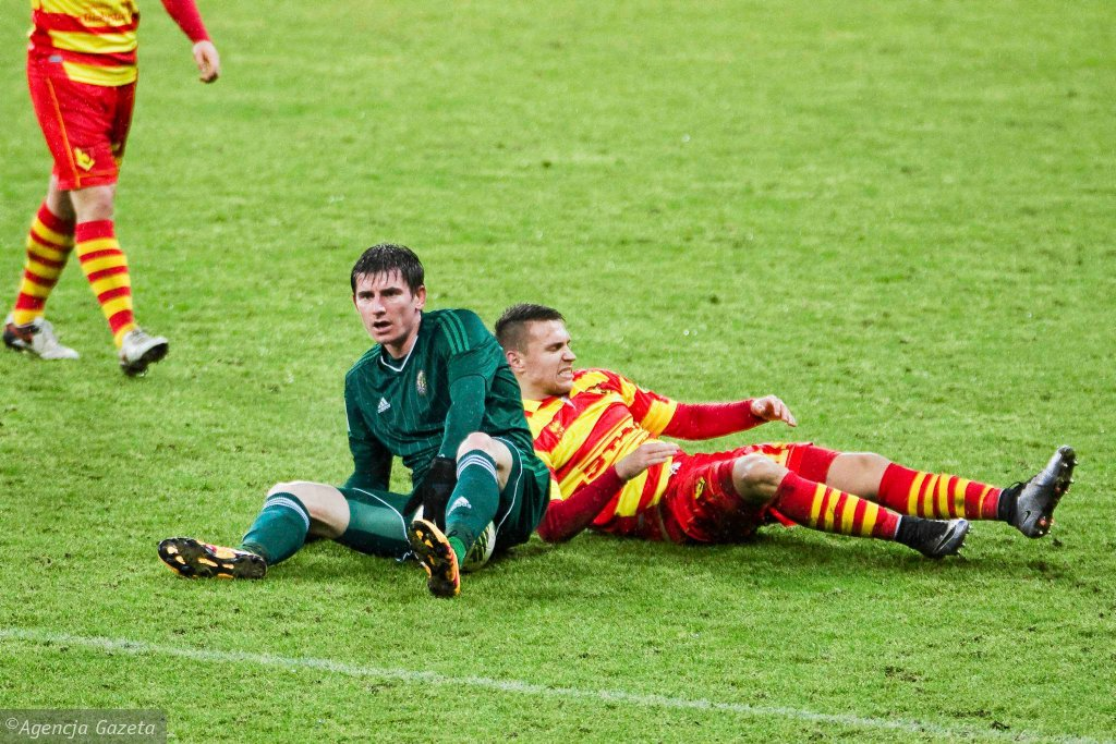 Jacek Kiełb w meczu Jagiellonia - Śląsk