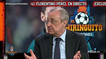 Florentino Perez w programie 'El Chiringuito'