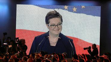 Katarzyna Lubnauer podczas konwencji wyborczej Koalicji Obywatelskiej. Warszawa, 8 września 2018