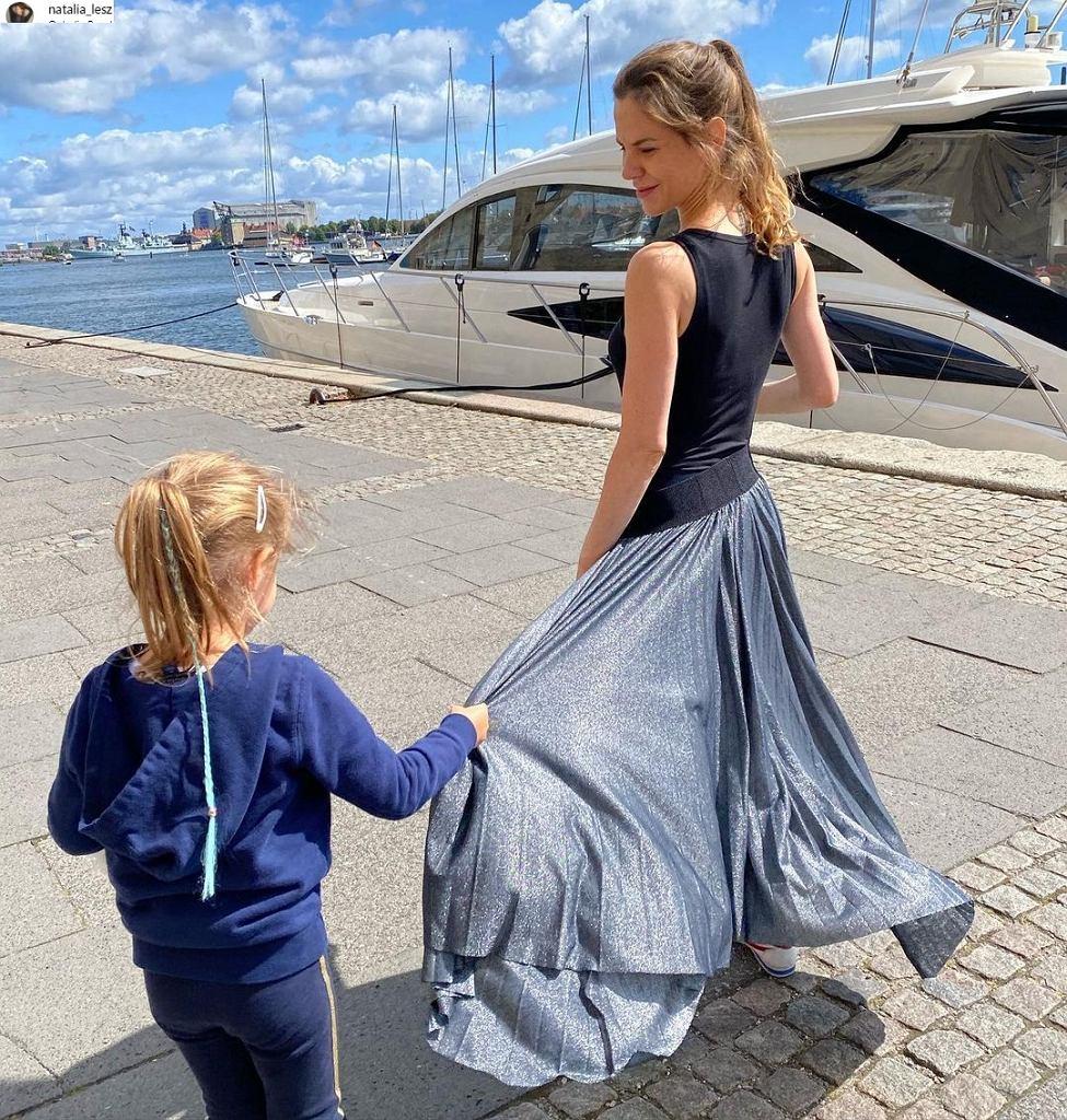 Natalia Lesz z córką