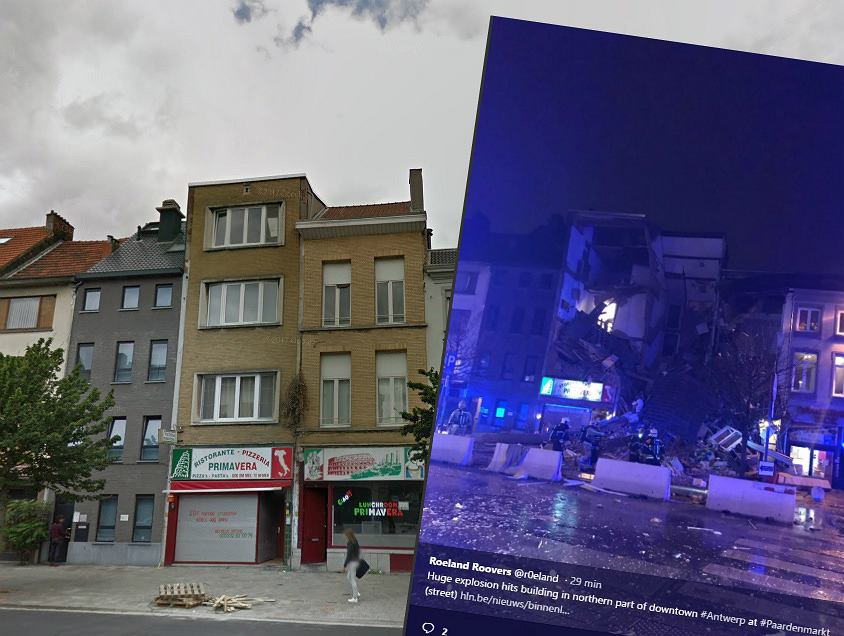 Wybuch w kamienicy w Antwerpii