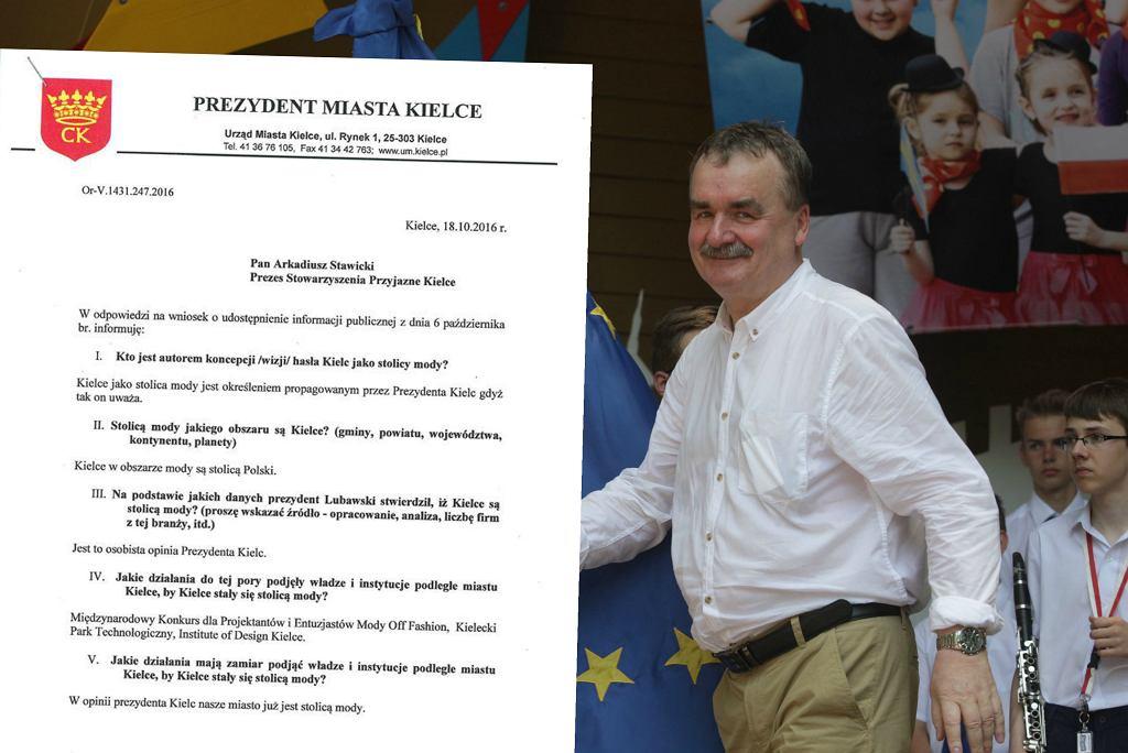 Prezydent Kielc Wojciech Lubawski