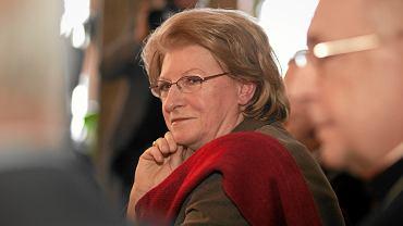 Hanna Suchocka podczas promocji swojej ksiąźki ' Rzymskie Pasje - Kościoły Stacyjne Wiecznego Miasta. Poznań, 12 lutego 2013