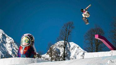 Shaun White na trasie slopestyle'u w Soczi