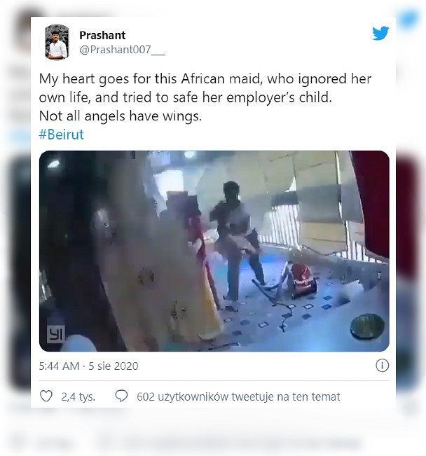 Wybuch w Bejrucie. Pokojówka uratowała dziecko