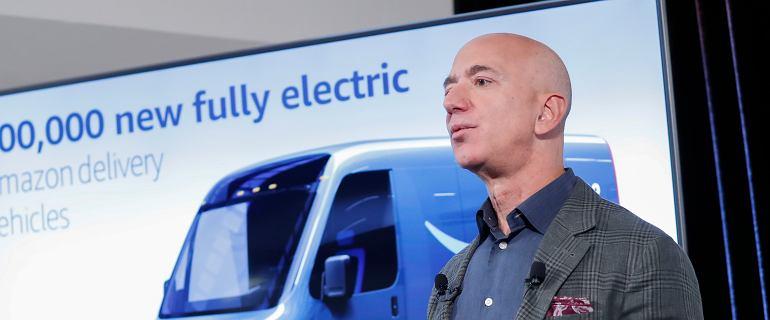 Bezos kupi aż 100 tys. aut elektrycznych. Amazon składa