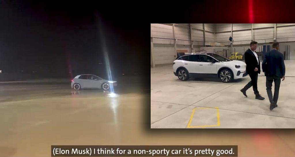 Elon Musk w Volkswagenie ID.3