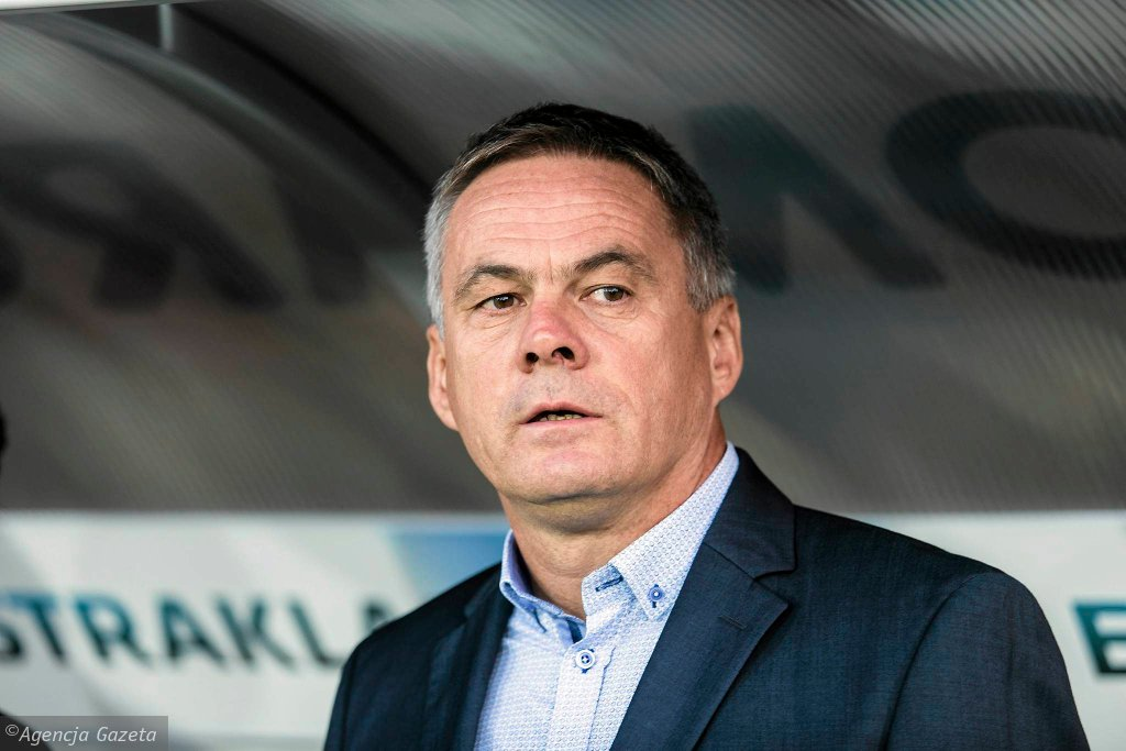 Trener Cracovii Jacek Zieliński
