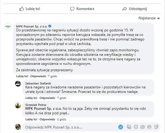 Komentarz MPK Poznań Sp. z o.o.