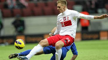 Łukasz Teodorczyk w meczu reprezentacji Polski i San Marino