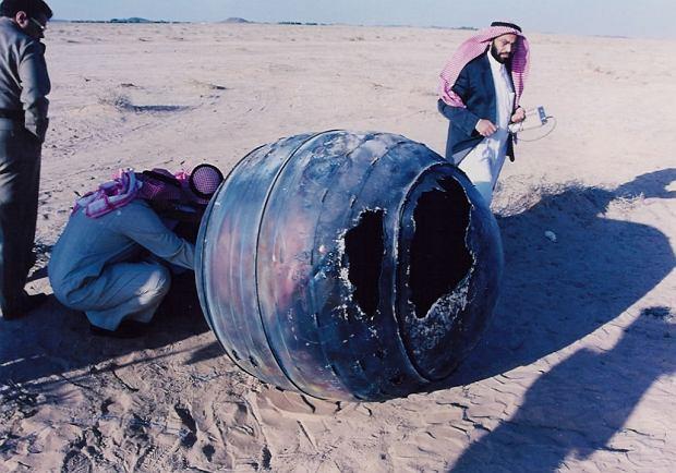 Fragment rakiety Delta 2, który spadł na Ziemię w Arabii Saudyjskiej