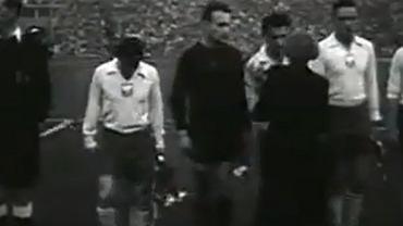 Gerard Cieślik przed meczem z ZSRR