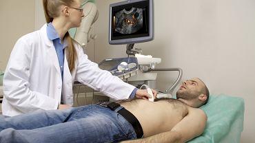 Objawy raka trzustki - u chorych z podejrzeniem nowotworu trzustki, w pierwszej kolejności wykonuje się badanie ultrasonograficzne jamy brzusznej