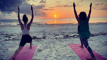 Natalia Kukulska ćwiczy jogę z córką