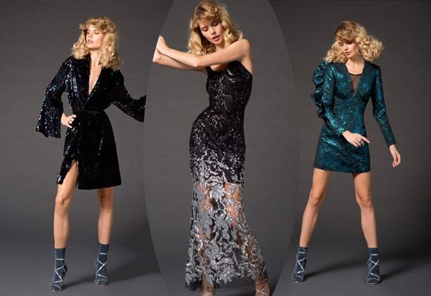 Sukienki Lidia Kalita z wyprzedaży: sukienka płaszcz 999 zł, cieniowana sukienka maxi - 999 zł, sukienka turkusowa - 599 zł