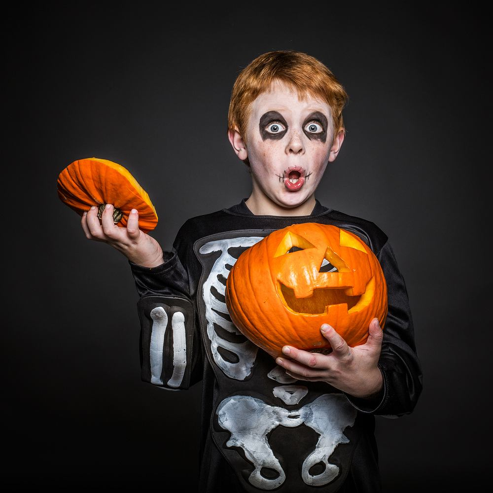 Stroje na Halloween dla dzieci - propozycja dla chłopca. Zdjęcie ilustracyjne