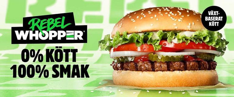 Burger King wprowadzi do Polski Rebel Whoopera z wegetariańskim kotletem