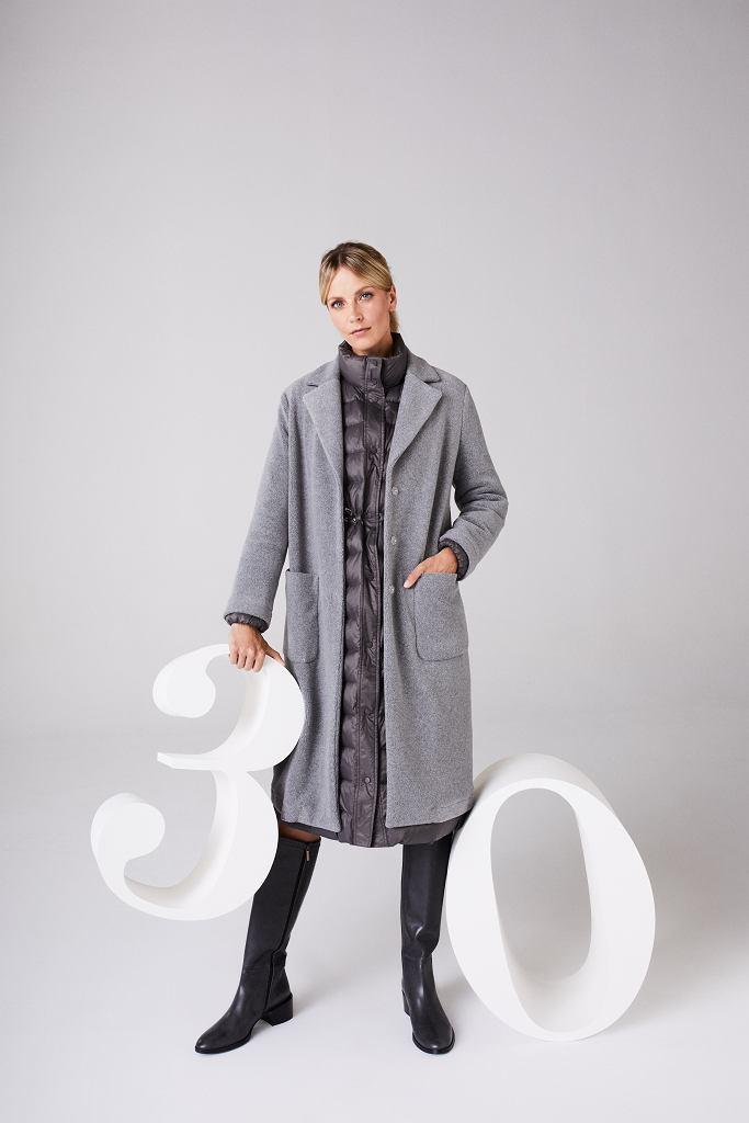 Płaszcz - puchówka i klasyczny fason w jednym