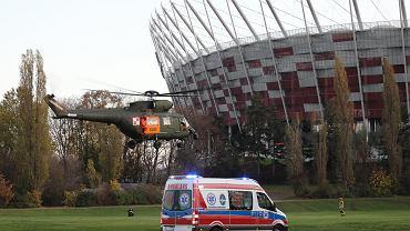 Szpital tymczasowym na PGE Narodowym w Warszawie