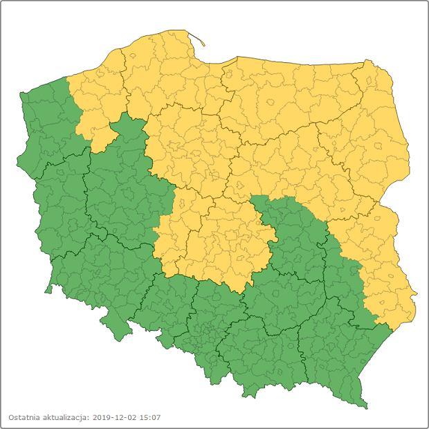 Niebezpieczne oblodzenia mogą wystąpić w 9 województwach