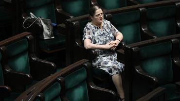 Sejm. Krystyna Pawłowicz (PiS) na sali plenarnej