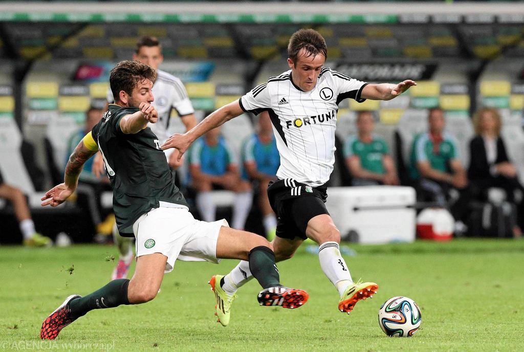 Miroslav Radović w meczu z Celtikiem