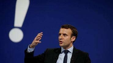 Kandydat na prezydenta Emmanuel Macron