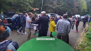 Protest przeciwko asfaltowaniu Drogi pod Reglami w Karkonoszach