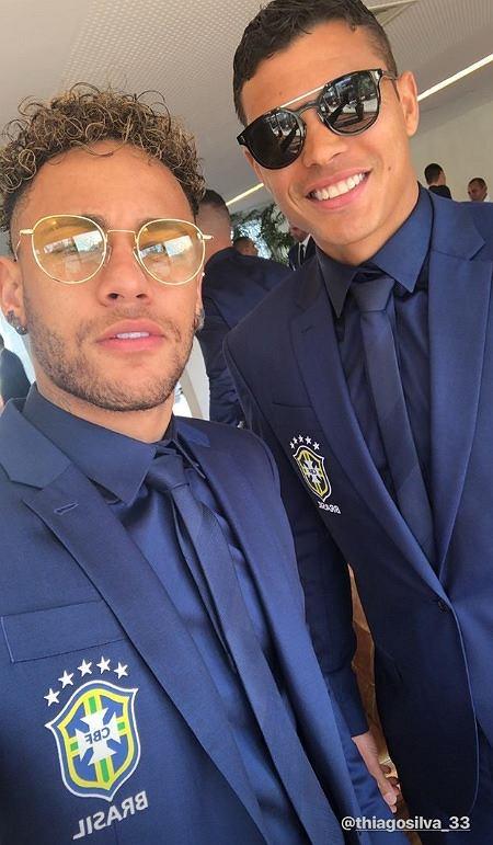 Neymar na zgrupowaniu reprezentacji Brazylii