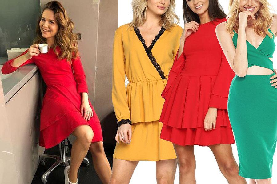 Kolaż, kolorowe sukienki/Materiały partnera