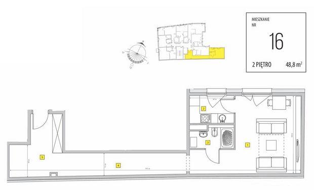 Mieszkanie z długim korytarzem