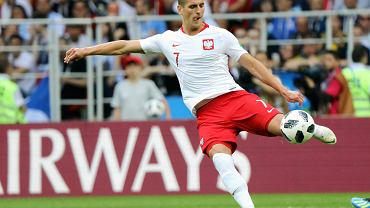 Arkadiusz Milik meczu Polska -Senegal. Mistrzostwa Świata w Rosji, Moskwa, stadion Spartaka, 19 czerwca 2018