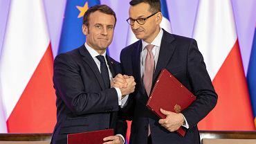 Emmanuel Macron , premier Mateusz Morawiecki
