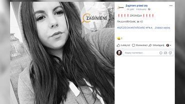Zachodniopomorskie Zaginęła 15-letnia Paula Krysiak
