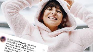 Anna Lewandowska wstydzi się ciąży? To fanka wyczytała z... marynarki