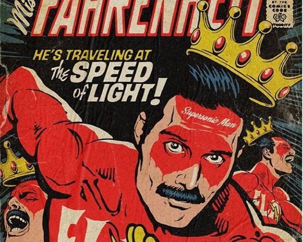 Freddie Mercury jako superbohater na okładkach komiksów [GALERIA]