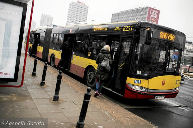 Autobus w centrum