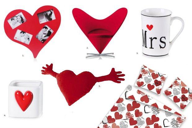 przedmioty i dekoracje z motywem serca