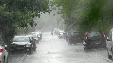 Ulice w trakcie ulewy