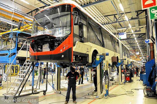 Produkcja autobusów we wrocławskich zakładach Volvo