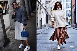 Połączenie butów sportowych ze spódnicą - top 3 w modzie streetwear