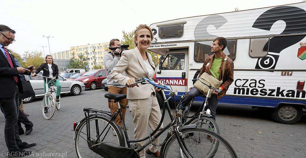 Joanna Scheuring - Wielgus podczas walki o fotel prezydenta Torunia (fot. Mikołaj Kuraś/AG)