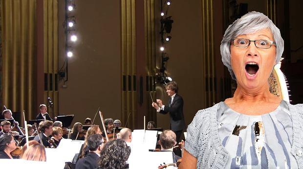 Kobieta zasnęła na koncercie muzyki klasycznej