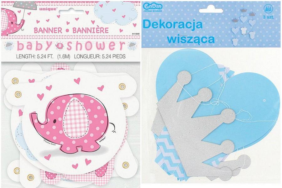 Dekoracje na Baby Shower.