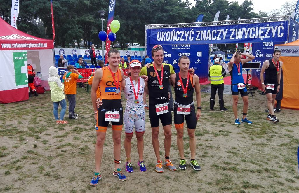 Piotr Ławicki, Agnieszka Jerzyk, Kacper Adam, Filip Graczyk - Prime Food Triathlon Przechlewo 2016