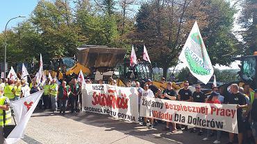 Protest portowców