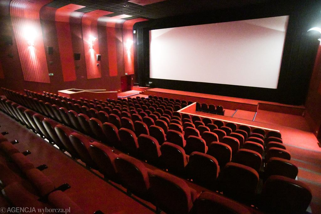 Pusta sala kinowa (kino DCF w Warszawie)