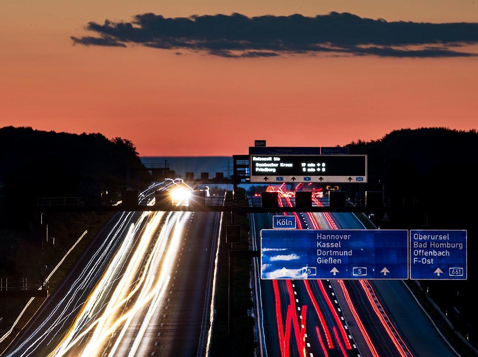 Autostrada w pobliżu Frankfurtu.