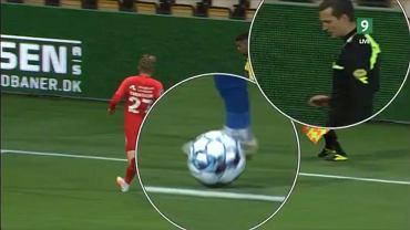 Liga duńska, mecz Brondby i kontrowersje przy jednym z goli. Źródło: Twitter