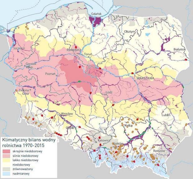 Klimatyczny bilans wodny w Polsce w latach 1970-2015